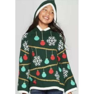 Well Worn Christmas Tree Hooded Holiday Sweater